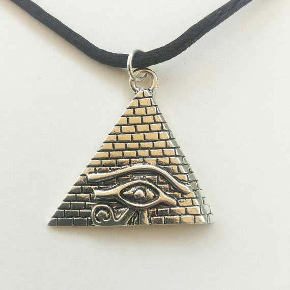 pyramid choker pyramid necklace illuminati pyramid choker