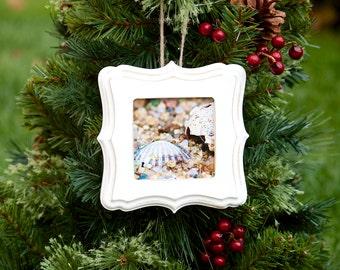 Ornament ~ Rhode Island, Beach, Christmas Ornament, Teacher Gifts, Nautical Ornament, New England, Christmas Gifts, Seashells