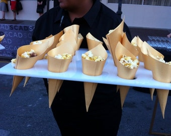 Paper Cones Gold Metallic, Confetti Cones, popcorn cones