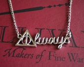 Gorgeous Silver Always Necklace Inspired By Snape's Love, Symbol of Love from Literature