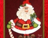 Paisley Print Santa--E-pattern packet by Sharon Cook