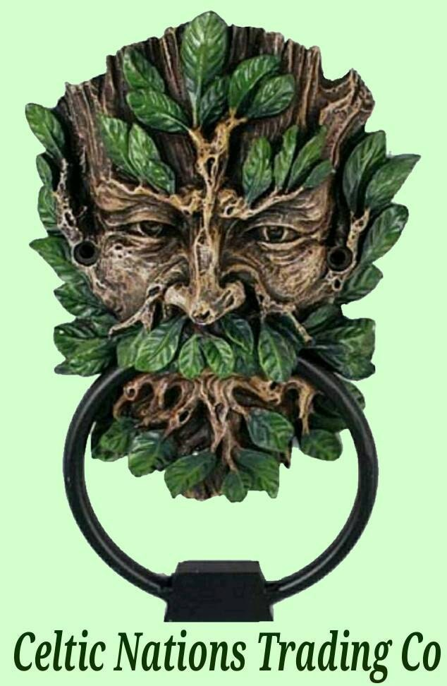 Large celtic mythological greenman door knocker folklore piece - Greenman door knocker ...