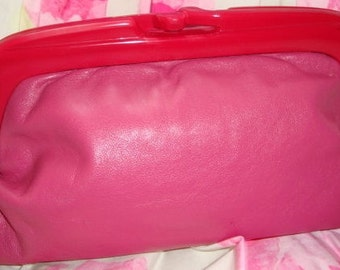 Pink Leather Clutch from Italy!