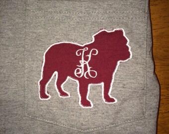 Mississippi State monogrammed bulldog T
