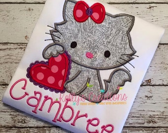 Valentine Kitty Shirt - Personalization Available