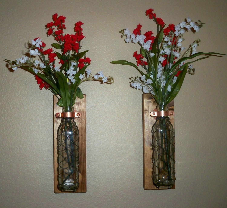 Bathroom Decor Vase : Chicken wire wall decor bathroom hanging vase set