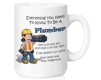 Plumber, Ceramic Coffee Mug, 11 Ounce, 15 Ounce, Funny Coffee Mug, Gift Idea, Gift Idea,Plumbing, Heat And Air