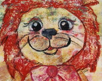 Picture children's lion - original/unique (A3)