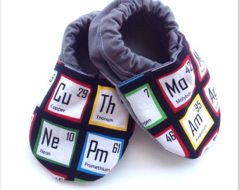 Periodic Table Baby Shoes