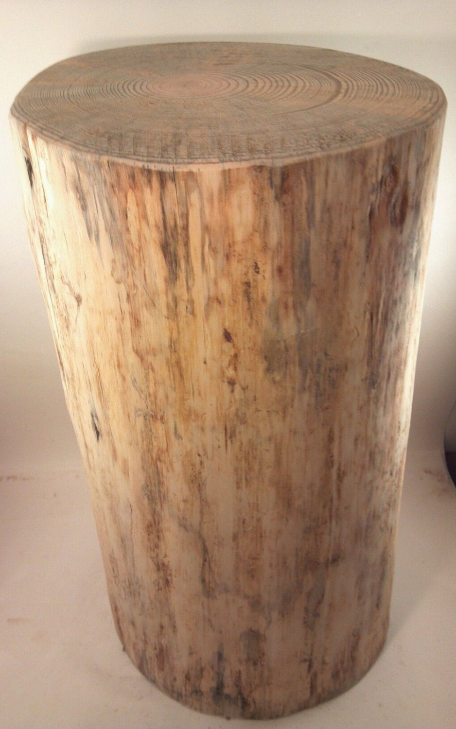 Rustic Spalted Pine Stump Stool Side Table Plant Stand Custom
