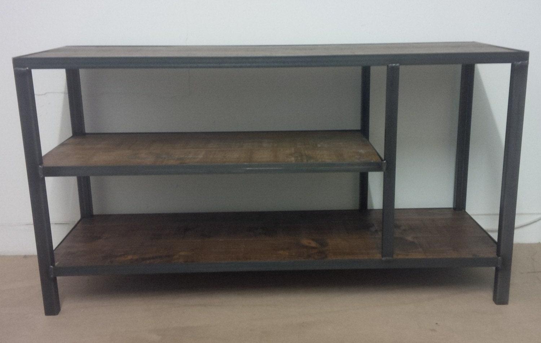 industrial style tv unit. Black Bedroom Furniture Sets. Home Design Ideas