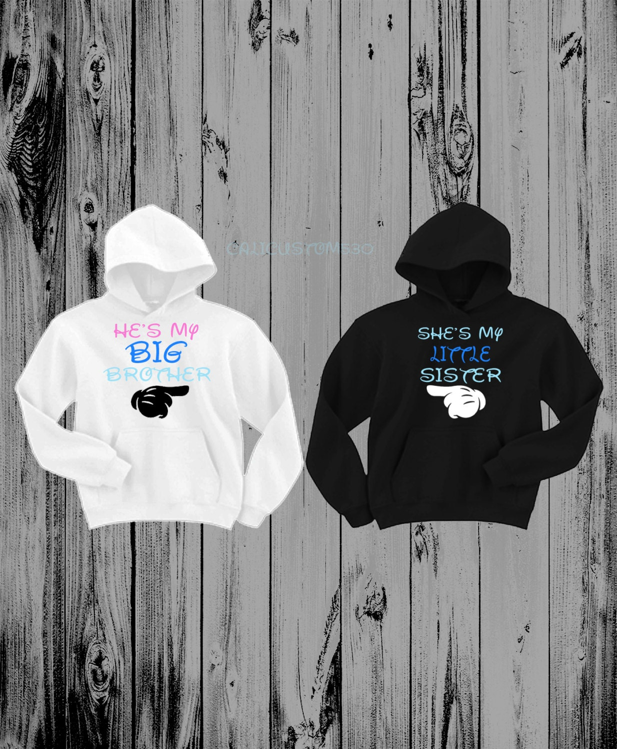 He S My Big Brother Amp She S My Little Sister Hoodies