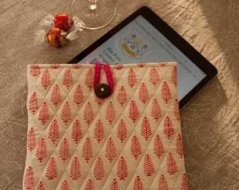 Fern Hand Block Printed iPad iPad 2 iPad Air  iPad Air 2 iPad Retina Display  Sleeve Case Cover