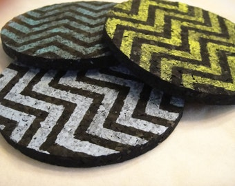 Recycled Rubber Coasters - 4 pack
