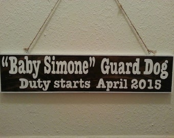 Guard Dog Baby Announcement