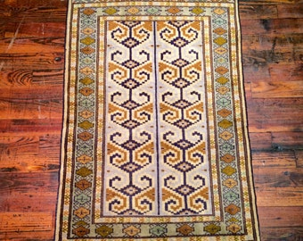 Vintage Persian Rug Kordi Oriental Rug / Geometric