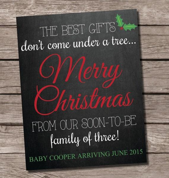 Christmas Pregnancy Announcement Chalkboard Chalkboard