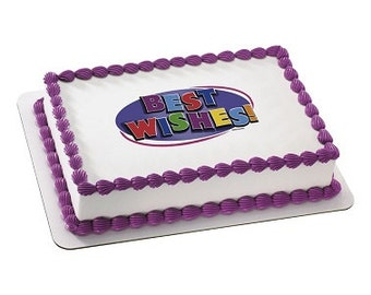 """Edible Image """"Best Wishes"""""""