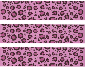Edible Image Strips Pink Leopard