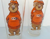 Set of  Vintage A&W The Great Root Bear glasses