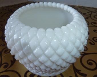 Vintage white milk glass Vase