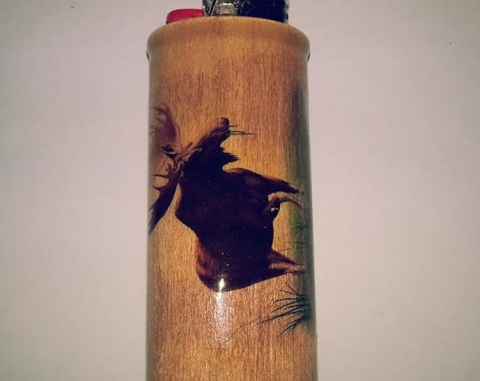 Moose BIC Lighter Case Holder Sleeve Cover