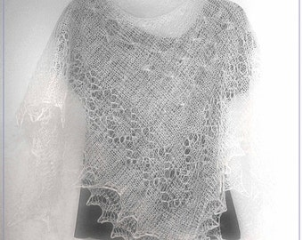 Russian Orenburg Lace SHAWL SCARF WHITE