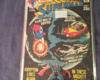 Silver Age Superman 232 Giant Tales of Krypton  DC Comics