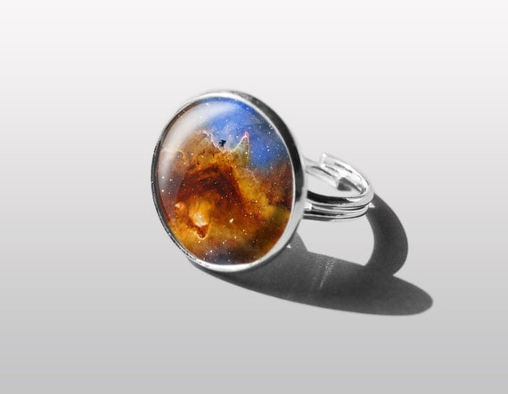 Items similar to Adjustable ring Solar System Ring, Planet ...