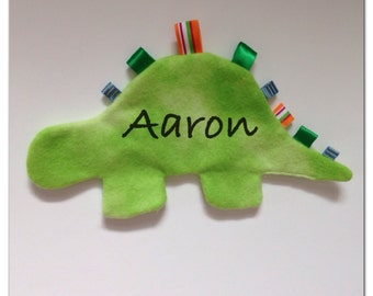 Items Similar To Flannel Dino Taggie Toy Flannel Plush