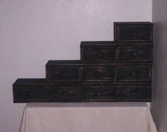 Complete Set of Stackable Drawer Boxes (4 boxes with 8 total drawers)