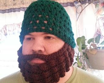Bearded Beanie in Adult Sizes MADE TO ORDER