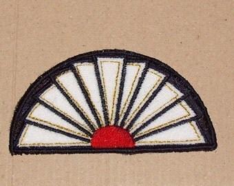 "1:12 Scale Doll House Art Deco Style Hearth Rug Semi circle Kitchen 3.5"" x 2"""