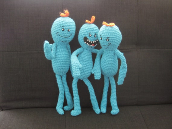 Mr. Meeseeks from Rick and Morty Crochet by PlaneofImmanence