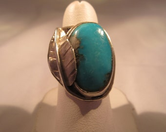Native American Sterling Silver & Turquoise Ring