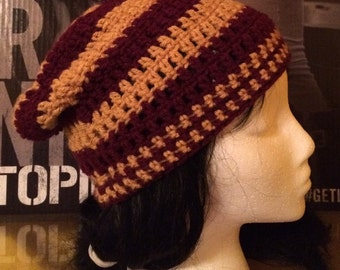 Gryffindor Maroon and Gold Slouched Beanie