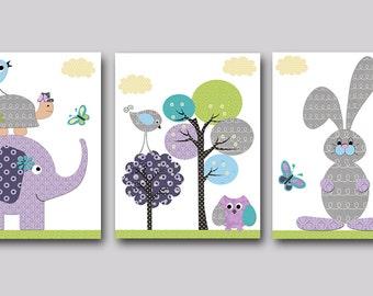 Kids Room Decor INSTANT DOWNLOAD Print Baby Nursery Decor Digital Print Baby Girl Nursery Decor Digital Art Download set of 3 8x10 11X14