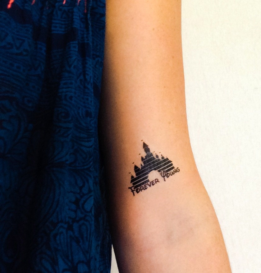 2 disney castle temporary tattoos geektat
