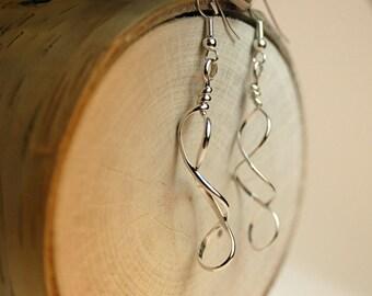 Mobius strip earrings