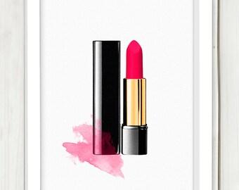 Lipstick printable art,DIGITAL FILE, wall art, home decor,art print,instant download, lipstick art
