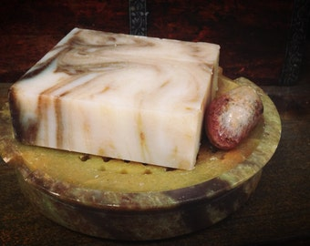 Peppermint Vanilla Cocoa Soap - Facial Soap Set- No Parabens - Sulfates -Synthetic Fragrances-Phthalates-GMOs