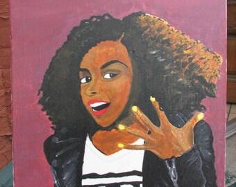 Janelle Monae 18x24 Oil Painting