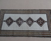 HOLD Size:6.10 ft by 3.5 ft Handmade Rug Vintage Worn Moroccan White Carpet