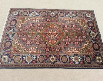 Size:3.5 ft by 5 ft Handmade Afghan Oriental Tabrizi Rug