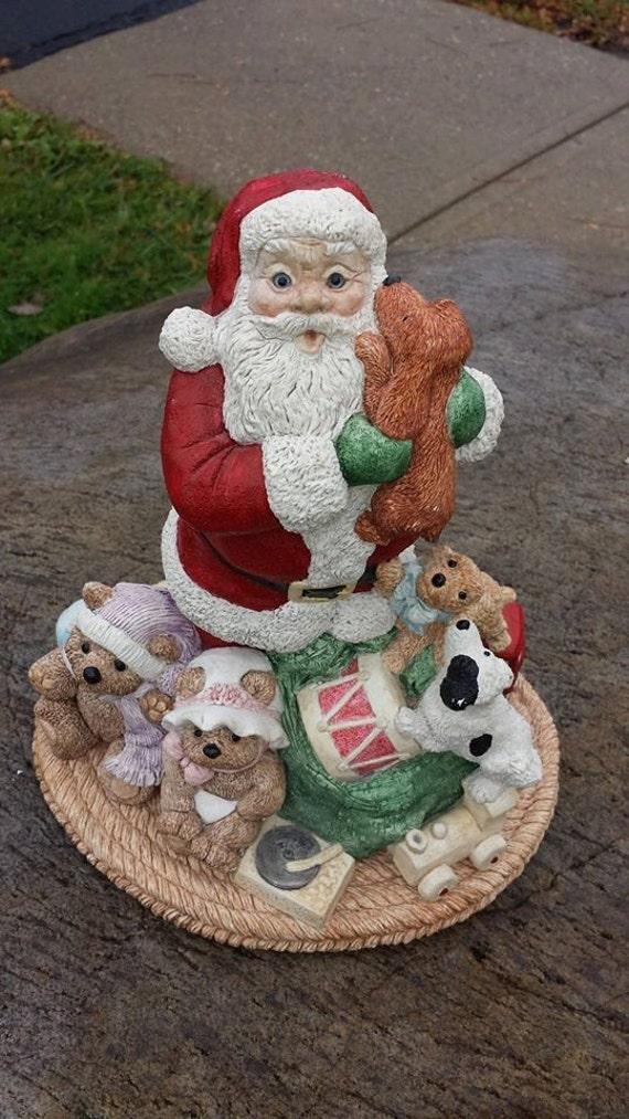Rare legend of santa claus figurine load em up puppies