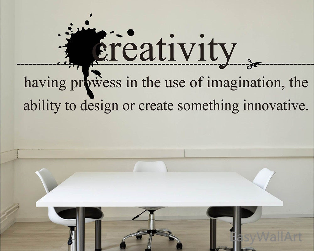 Creativity wall quotes decal for living room bedroom office for Living room quote stickers