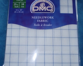 DMC Waste Canvas - 25ct  (35 x 45cm) For Cross Stitch on any kind of fabric(Household linen, Clothes)