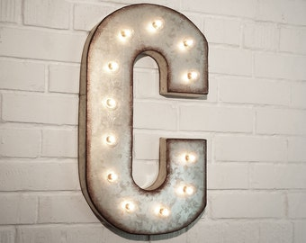 vintage metal letters with lights items similar to vintage style metal letter light up sign 12620