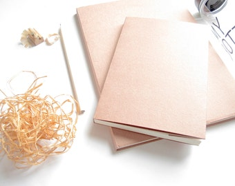 "7.5 x 5.2"" // Medium Pink Simplicity Eco-Friendly Sketchbook Journal 。 Drawing Sketchbook 。 Blank Notebook 。 Travel Journal"