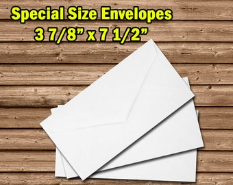 3 7/8 x 7 1/2 Envelopes - Admission Ticket Envelopes - Monarch Envelopes - Special Size Envelopes